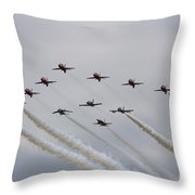 Red Arrows 50 Throw Pillow