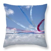 Red Arrows Aerobatic Display Team Throw Pillow