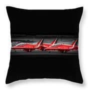 Red Arrows Threesome Take-off Throw Pillow