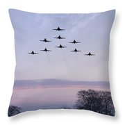 Red Arrows Winter Training  Throw Pillow