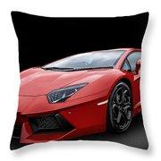 Red Aventador Throw Pillow