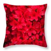 Red Azalias Throw Pillow