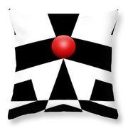 Red Ball 12a H Panoramic Throw Pillow