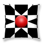 Red Ball 1 Panoramic Throw Pillow