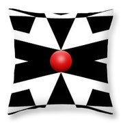 Red Ball 25a Panoramic Throw Pillow