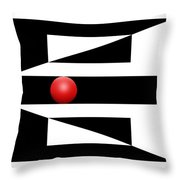 Red Ball 3 Throw Pillow