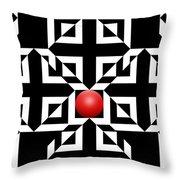 Red Ball 5 Throw Pillow
