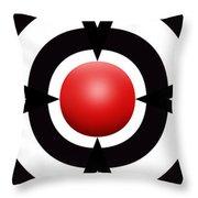 Red Ball 6 Panoramic Throw Pillow