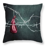 Red Balloon Throw Pillow