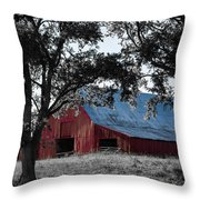Red Barn 2 Throw Pillow