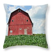 Red Barn And New Corn Throw Pillow