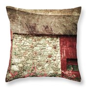 Red Barn Enhanced Throw Pillow