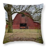 Red Barn Series Picture A Throw Pillow