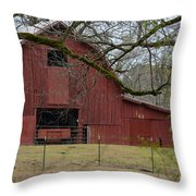 Red Barn Series Picture E Throw Pillow