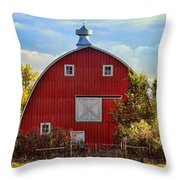 Red Barn Throw Pillow