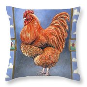 Red Baron Rooster Throw Pillow