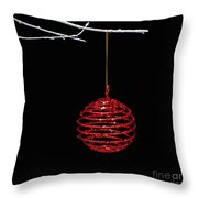 Red Bauble Throw Pillow