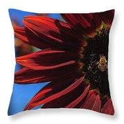 Red Be There Throw Pillow