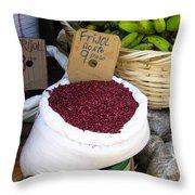 Red Beans At Nicaragua Market Throw Pillow