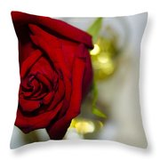 Red Beauty II Throw Pillow