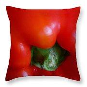 Red Bell Pepper Throw Pillow