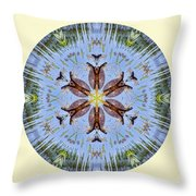 Red Bellied Turtle Mandala Throw Pillow