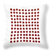 Red Berries In A Grid Throw Pillow
