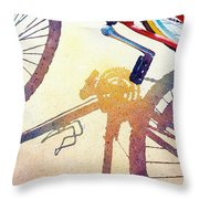 Red Bike Throw Pillow