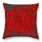 Red Black White Expressions Scramble  Black Red Throw Pillow
