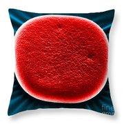 Red Blood Cell Sem Throw Pillow