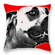 Red Blooded Scooby Dog Throw Pillow