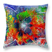 Red Bloom Throw Pillow
