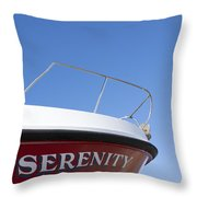 Red Boat Serenity 2 Throw Pillow