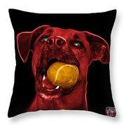 Red Boxer Mix Dog Art - 8173 - Bb Throw Pillow