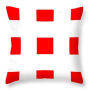 Red Boxes Throw Pillow