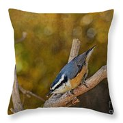 Red Breasted Nuthatch Throw Pillow