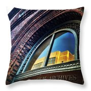 Red Brick Reflection Throw Pillow by Natasha Marco