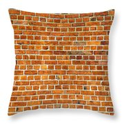 Red Brick Wall Texture Throw Pillow