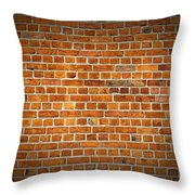 Red Brick Wall Texture With Vignette Throw Pillow