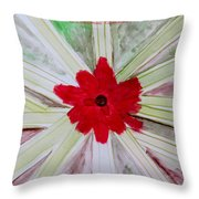 Red Brilliance Throw Pillow by Sonali Gangane