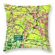 Red Bud Cascade Throw Pillow