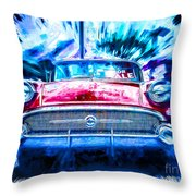 Red Buick  Throw Pillow