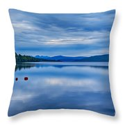 Red Buoys On Loch Rannoch Throw Pillow