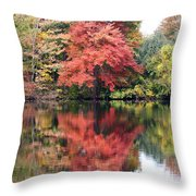 Red Burst Throw Pillow