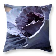 Red Cabbage Abstract Throw Pillow