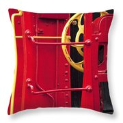 Red Caboose Throw Pillow