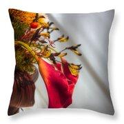 Red Cala Throw Pillow
