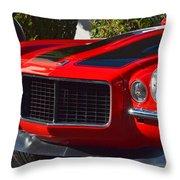 Red Camaro Throw Pillow