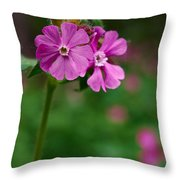 Red Campion Throw Pillow
