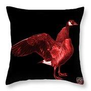 Red Canada Goose Pop Art - 7585 - Bb  Throw Pillow